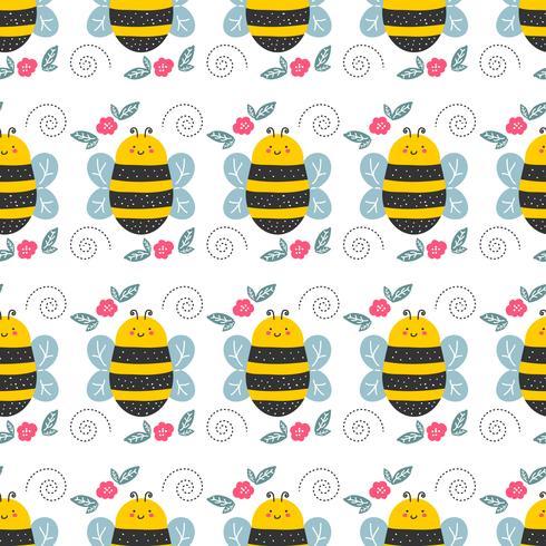 Patrón de abeja ilustración vectorial