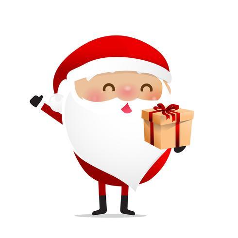 Happy Christmas character Santa claus cartoon 018 vector