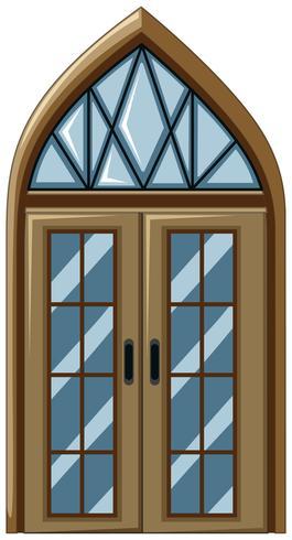 Vieux style de fenêtre en verre