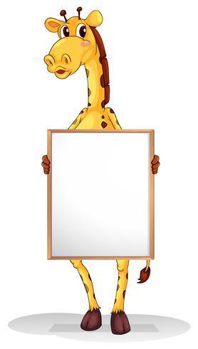 En giraff