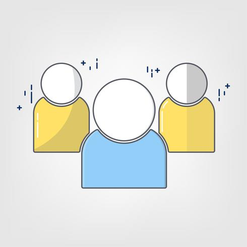 Icône d'art plat mince ligne. illustration design Partenaires. Succès du travail d'équipe et de la communauté.