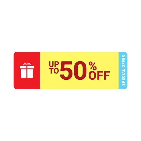50% sale tag icon, Vector EPS 10 illustration style