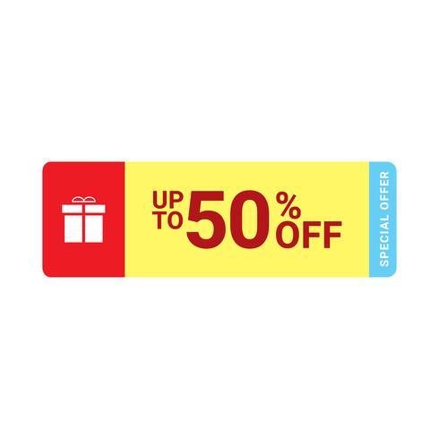 50% pictogram van de verkoopmarkering, Vectoreps 10 illustratiestijl