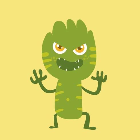 Personnage de dessin animé de monstre mignon 011