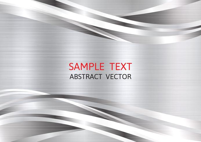 Metallic silver color geometric abstract vector background with copy space, Graphic design