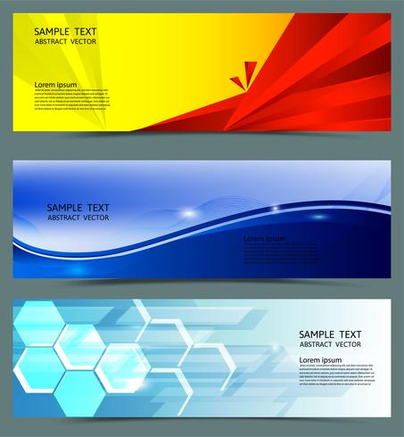 Banner geometric abstract background, Vector illustration with copy space