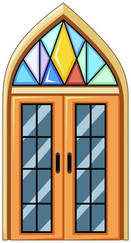 Window with mosaic glass