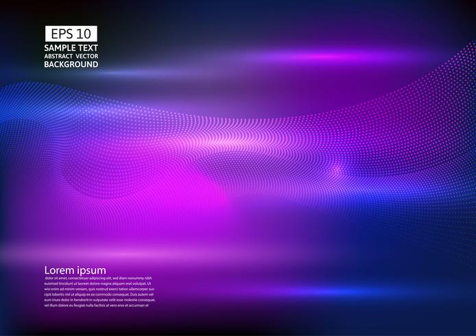 Particle wave abstract background design. vector illustration