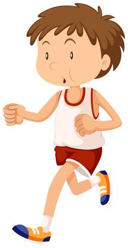Man in sportwear running