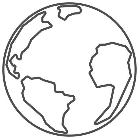 Planeet aarde. Dunne lijn.