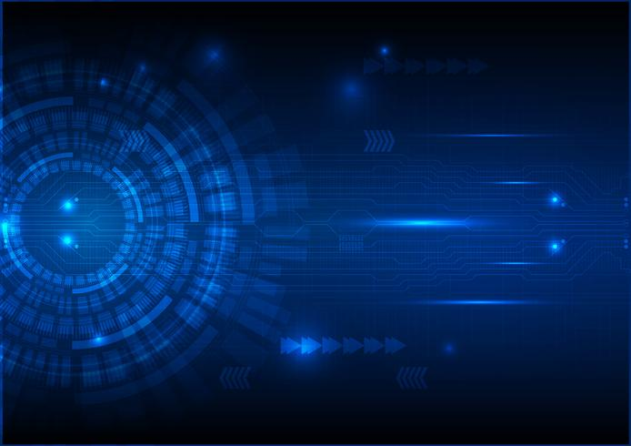 Digital Technology Circuit Abstract Background Vector Illustration