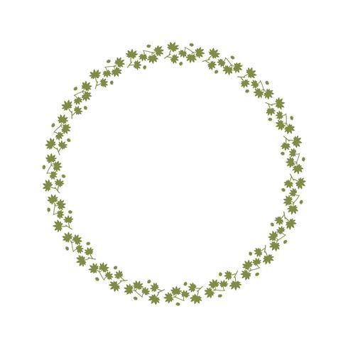 Couronnes de modèle sans couture avec printemps en congé vert. fond de cadre floral.