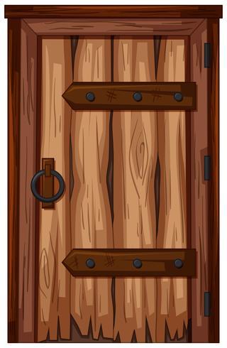 Wooden door with bad condition