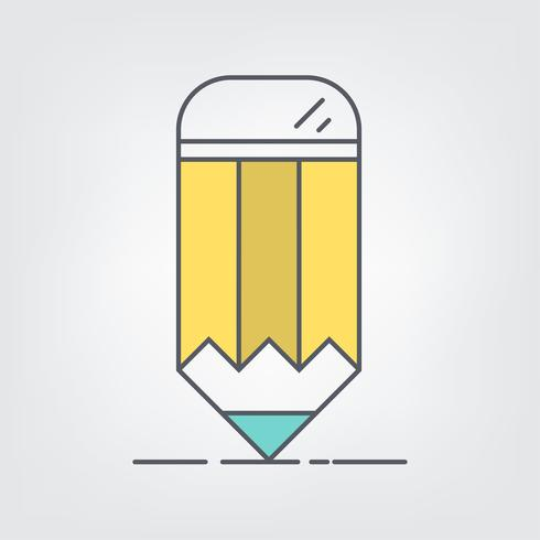 Line art pencil web ikoner. ilustrationsvektorsymbol.