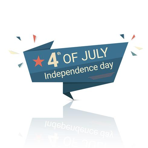 4. Juli amerikanische Unabhängigkeitstag Banner.
