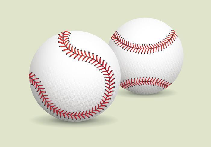 Realistic Baseball Vector
