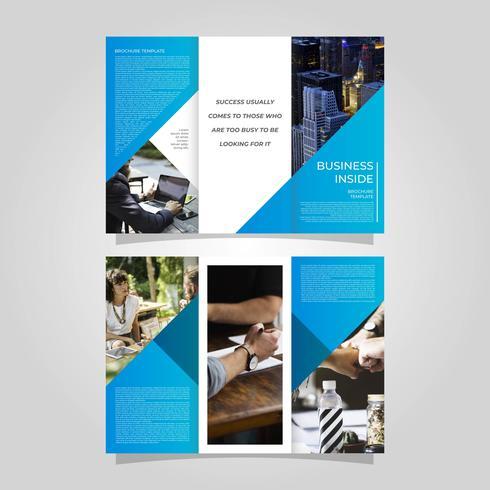 Plantilla de Vector de folleto de negocios plana