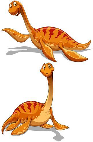 Söt dinosaur i två ställen