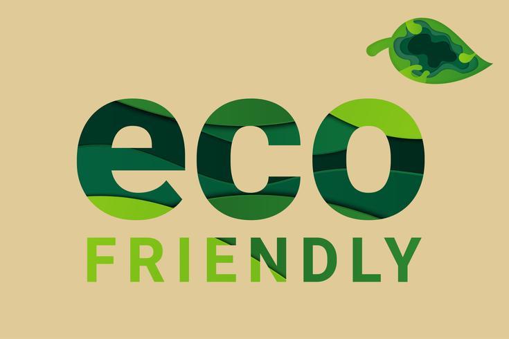 Save Earth Planet World Concept. Wereld milieu dag concept. ecologie concept. milieuvriendelijke tekst en groen natuurlijk blad.