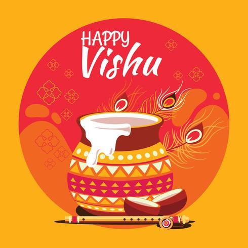 Illustratie van Indian State Kerala Hindu Festival Vishu