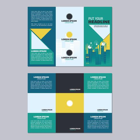 Trifold Business Brochure Template Two Side