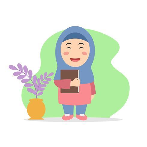 Tjej med Al Quran