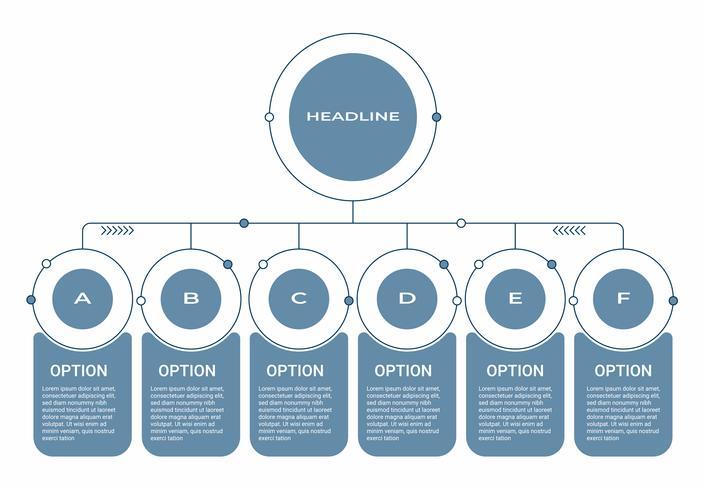 Infographie de l'entreprise. Diagramme avec 8 étapes, options ou processus. Modèle d'infographie pour la présentation.