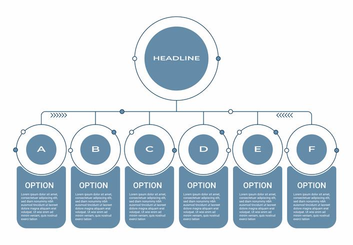 Infografía de negocios. Diagrama con 8 pasos, opciones o procesos. Plantilla de infografías para presentación.