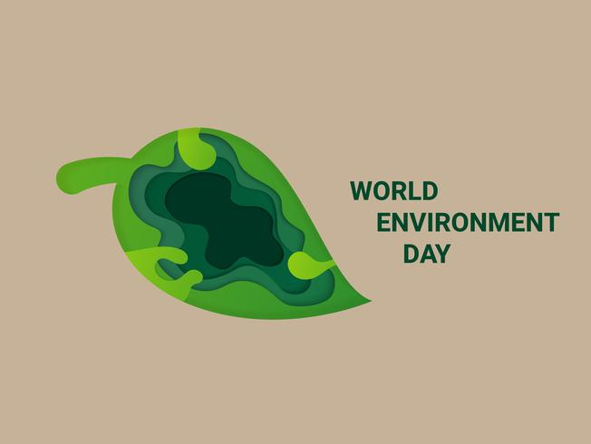 Save Earth Planet World Concept. Wereld Milieu Dag. ecologie vriendelijke tekst en groen natuurlijk blad.