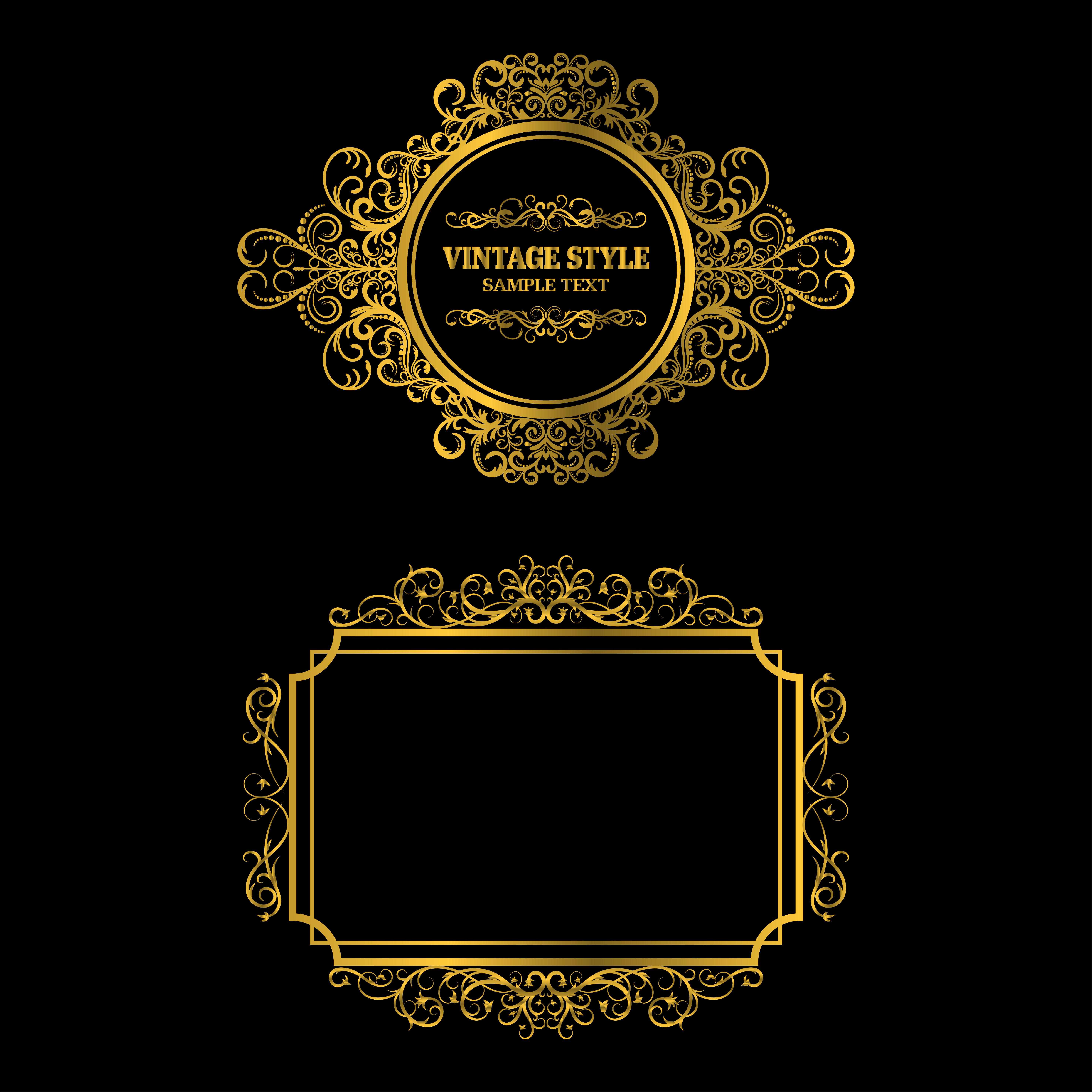 Vector Of Vintage Gold Frame Decorative Download Free