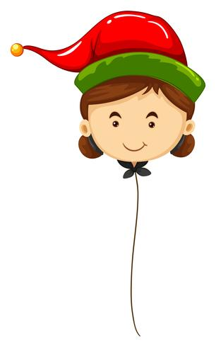 Balloon shape of woman wearing red hat