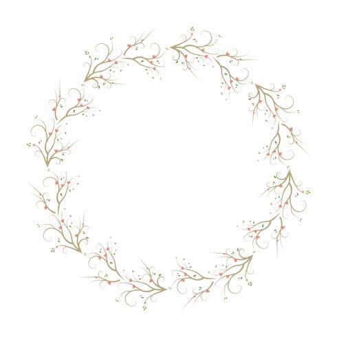 Nahtlose Musterkränze mit Blume. Blumenfeldhintergrund.