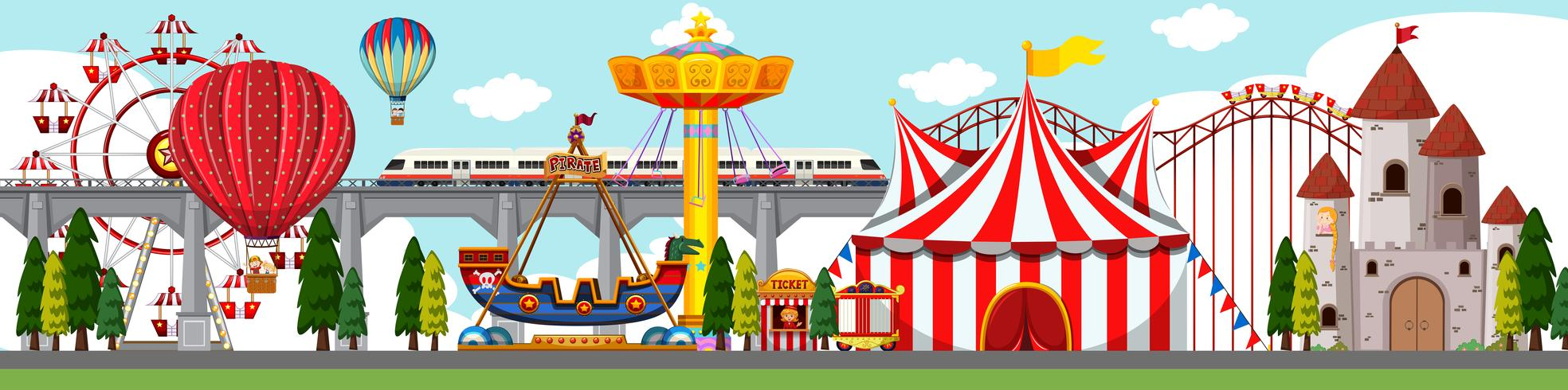 A amusement park scene