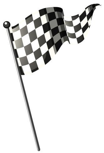Racing flag on black pole