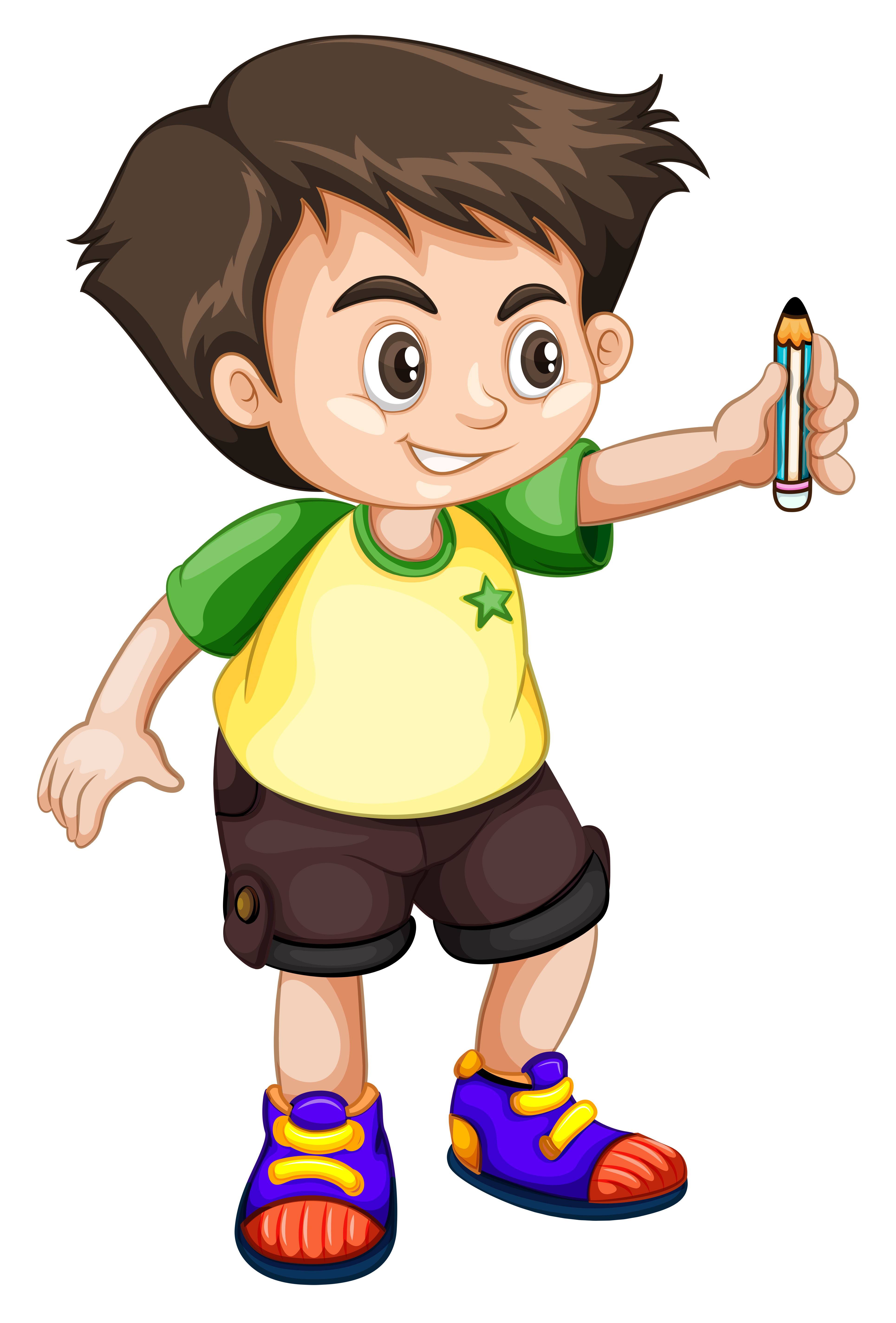 Young kid holding a pencil