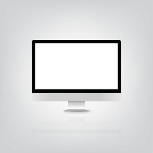 Bank screen monitor mockup. vector illustration eps10