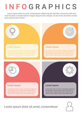 Infographics diagram with 4 steps, options, or processes. Vector business template for presentation. business data visualization.