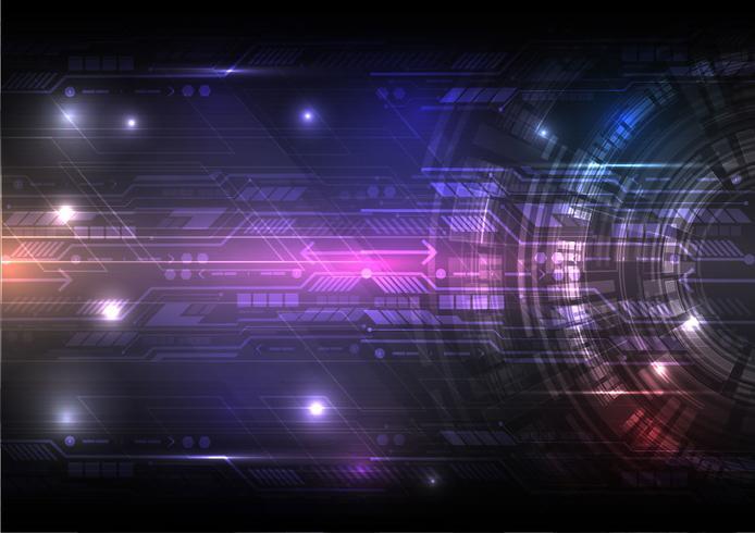 Tecnología digital Resumen Antecedentes concepto Vector Illustration