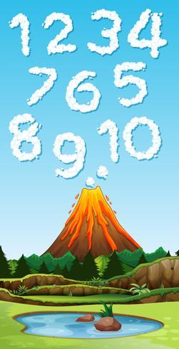 Lettertype van vulkaanrook