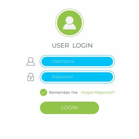Accedi e accedi all'interfaccia utente. Modello di interfaccia utente moderno sito Web aziendale.