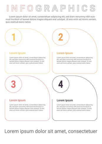 Diagrama de infografías con 4 pasos, opciones o procesos. Plantilla de negocio de vector para la presentación. Visualización de datos empresariales.
