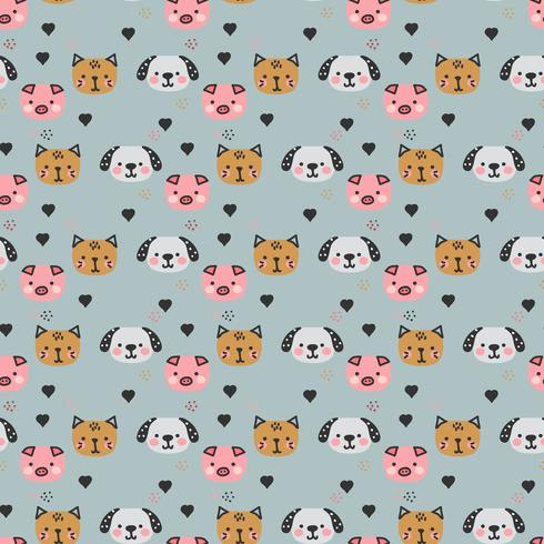 Childish Animal Pattern