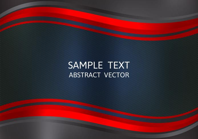Roter und schwarzer Farbzusammenfassungs-Vektorhintergrund mit Kopienraum. Grafikdesign