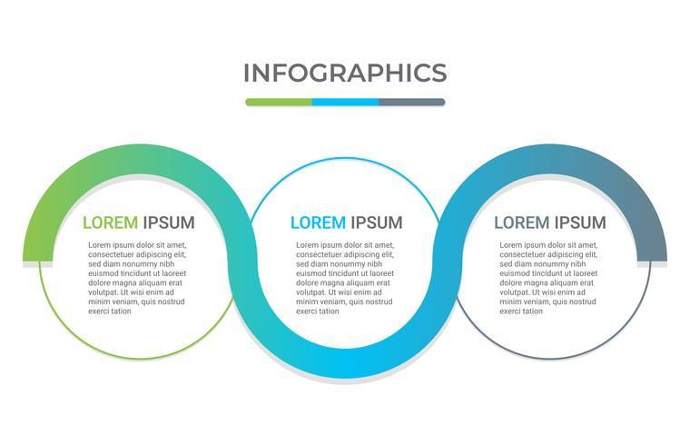 Modelo de negócio infográfico com 3 opções.