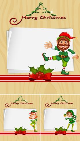 Modello di confine con elev di Natale