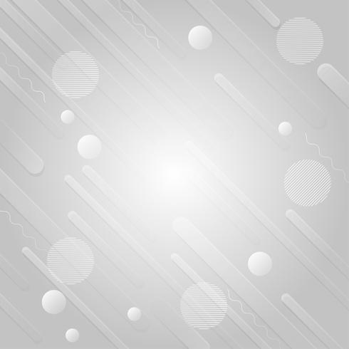 Conception de fond abstrait moderne géométrique de couleur gris et blanc, Illustration vectorielle