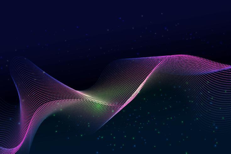 Fondo moderno de la partícula y del polvo diseño moderno con el espacio de la copia; Ilustración del vector para su negocio y diseño de banner web.