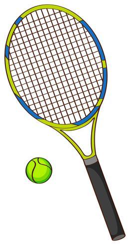 Raquette de tennis et balle de tennis vecteur