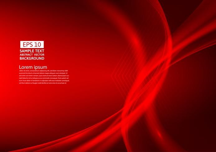 Conception de fond abstrait vagues de couleur rouge. illustration vectorielle