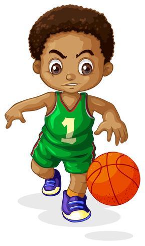 A male basketball player kid